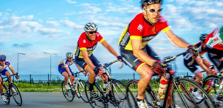 Racing at Cyclopark